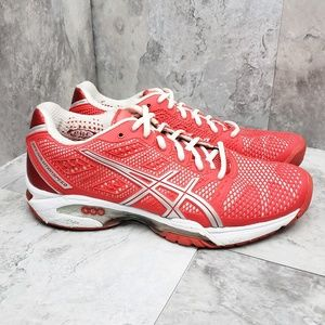 Asics Gel Solution Speed Red and White Sneakers